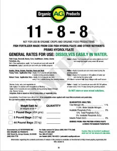 11-8-8 Label