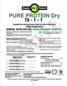 dry fish fertilizer with Organic AG Products