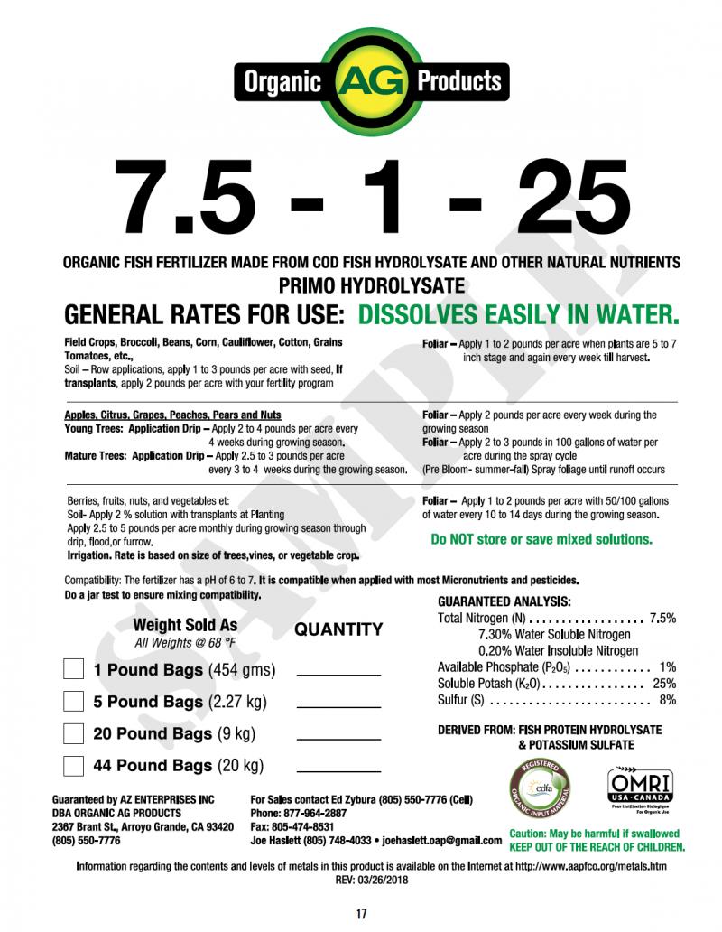 7.5-1-25 Label